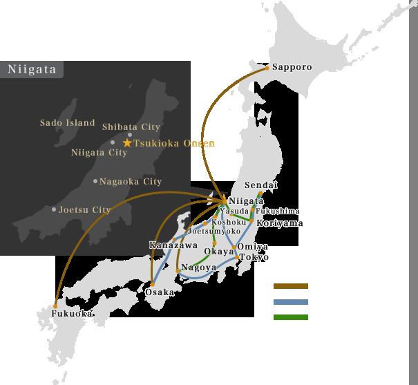 Directions Shiratama No Yu Kahou Tsukioka Onsen Niigata Japan